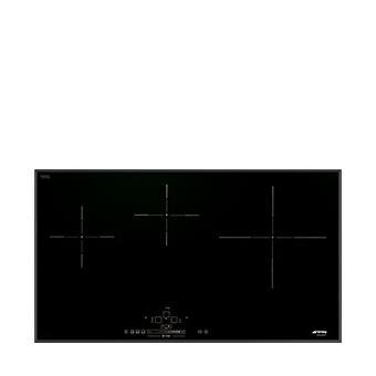 le dernier 6ee88 816a3 SMEG SIH5935B Table de cuisson induction, 86 cm de largeur et 40 cm de  profondeur, bord biseauté