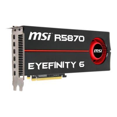 La combinaison gagnante en une seule carte: ATI Eyefinity Technology et 6 minis display ports! La MSI R5870 Eyefinity 6 est la solution idéale pour offrir aux gamers les plus exigeants un champ de vision inespéré!Dotée de l´ATI Eyefinity Technology et de