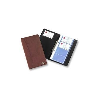 Rexel Soft Touch Classeur Pour Cartes De Visite En Aspect Daim Noir