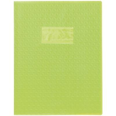 Protège-cahiers en PVC 17 x 22 cm série opaque, coloris vert clair - Paquet de 30