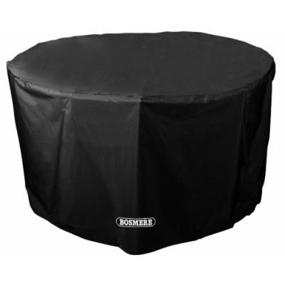 Bosmere D540 Storm Black Housse Pour Table De Jardin De 4 Places Rond Noir 71 Cm