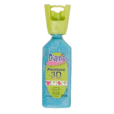 Peinture Diam's 3D 37 ml - Glacé - Bleu Lagon - Diam's