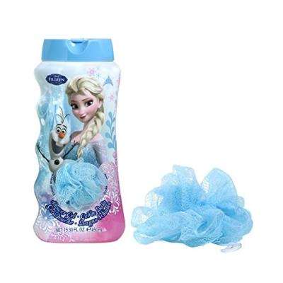 Gel douche + éponge 450ml frozen reine des neiges lot de 2 air-val 6327