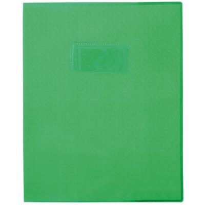 Protège-cahiers en PVC 17 x 22 cm série opaque, coloris vert feuille - Paquet de 30