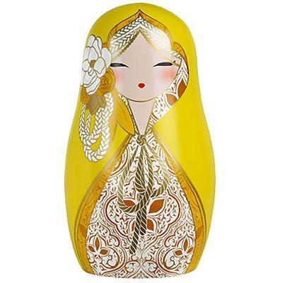 Magnifique magnet Babushka Jaune