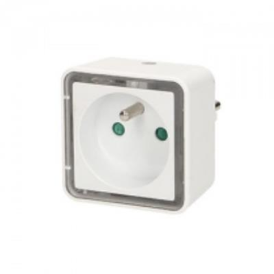 Prise avec lampe de chevet carrée à LED intégrée - Orno