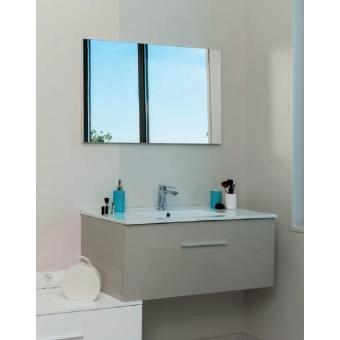 Aqua+ - ensemble meuble salle de bain haut taupe à suspendre 90 cm ...