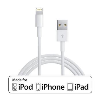 c ble usb iphone 5 6 blanc chargeur pour t l phone mobile achat prix fnac. Black Bedroom Furniture Sets. Home Design Ideas
