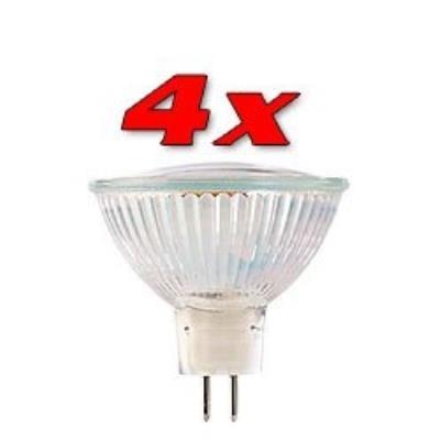 4 Ampoules 39 LED SMD GU5.3 - blanc neutre