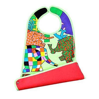 Elmer grand bavoir 2 en 1 toile cirée multicolore