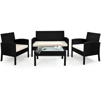 Salon de jardin Lounge - Chaise et table 7 pcs Plateau en ...