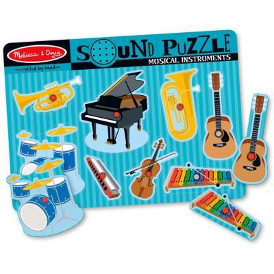 Puzzle en bois avec Sons des instruments de musique 8 pcs 30 cm Enfants 2 ans +