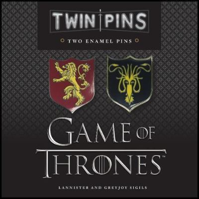 Game of Thrones Twin Pins: Lannister and Greyjoy Sigils (Lapel Pins) - [Version Originale]