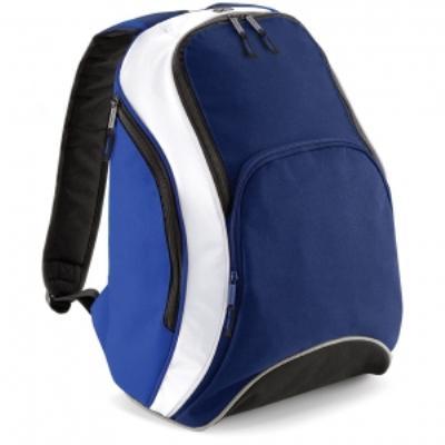 Sac à dos loisirs 21L - Teamwear Bacpack - BG571 - bleu marine roi blanc