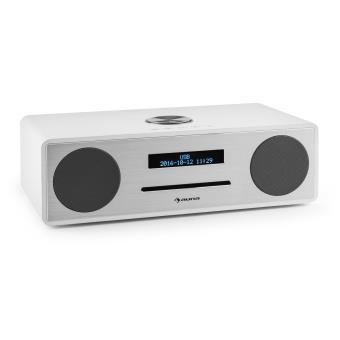 110 sur auna stanford radio lecteur cd dab dab bluetooth usb mp3 aux fm blanc radio. Black Bedroom Furniture Sets. Home Design Ideas