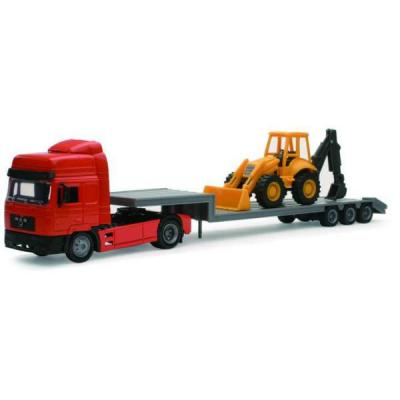 CAMION MAN F 2000 TRANSPORT TRACTOPELLE 1/43°