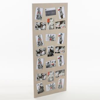 p le m le 21 photos grand cadre multi photos taupe. Black Bedroom Furniture Sets. Home Design Ideas