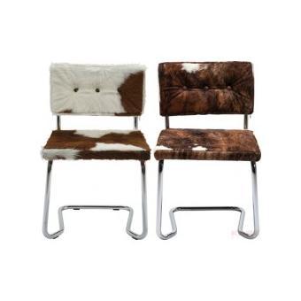 lot de 2 chaises peau de vache swing achat prix fnac. Black Bedroom Furniture Sets. Home Design Ideas