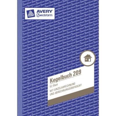 Avery zweckform cahier pour jeu de quilles a5 52 pages a.dennison zweckform duo 209