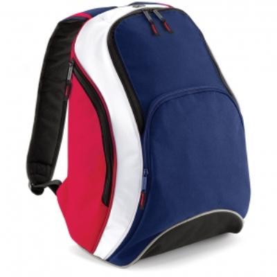 Sac à dos loisirs 21L - Teamwear Bacpack - BG571 - bleu marine rouge blanc