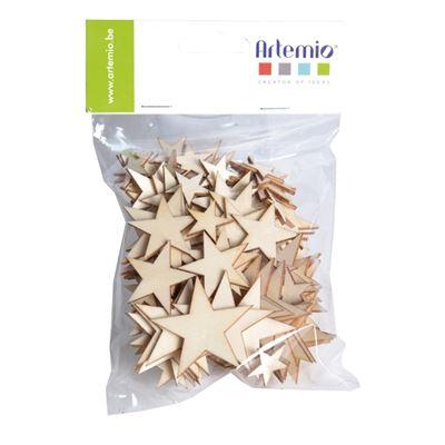 étoile en bois 129 pièces - artémio