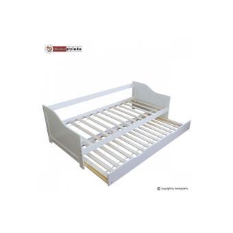 lit simple blanc 90x200 avec tiroir lit lit pour enfant achat prix fnac. Black Bedroom Furniture Sets. Home Design Ideas