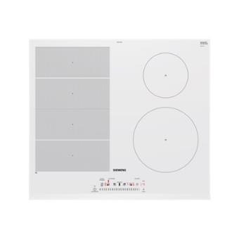Siemens iq700 ex652feb1f table de cuisson induction 60 cm blanc vitroc ramique avec - Table de cuisson induction blanche ...