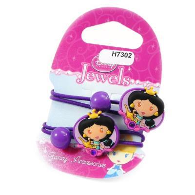 Paire d'élastiques 'Princess Jewels' violet