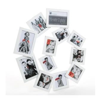 p le m le 12 photos spirale cadre multi photos blanc. Black Bedroom Furniture Sets. Home Design Ideas