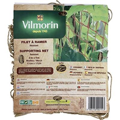 Vilmorin Vh00088 Filet À Ramer Maillé 17 X 17 Cm 200 G/M² 2 X 5 M
