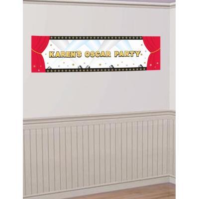 Bannière Hollywood à personnaliser (1 65 m)