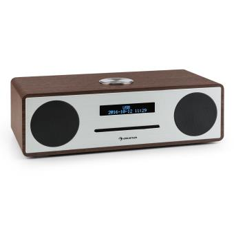 90 sur auna stanford radio lecteur cd dab dab bluetooth usb mp3 aux fm noisette radio. Black Bedroom Furniture Sets. Home Design Ideas