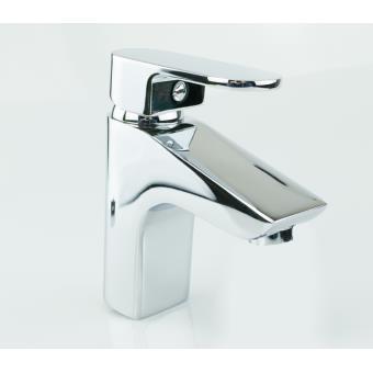 Mitigeur de lavabo chrom robinet mitigeur salle de bain design en laiton et zinc cartouche - Robinetterie laiton salle de bain ...