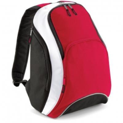 Sac à dos loisirs 21L - Teamwear Bacpack - BG571 - rouge noir blanc