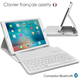 etui blanc avec clavier azerty bluetooth pour apple ipad. Black Bedroom Furniture Sets. Home Design Ideas