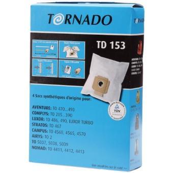 tornado td 153 sacs aspirateurs adaptables pour. Black Bedroom Furniture Sets. Home Design Ideas