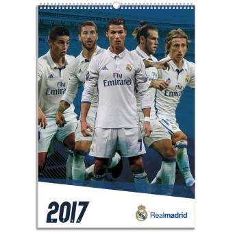 Calendrier Madrid.Calendrier Mural A3 2017 Real Madrid