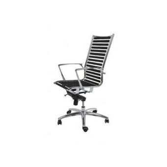 Chaise Haute De Bureau Pivotante Noire