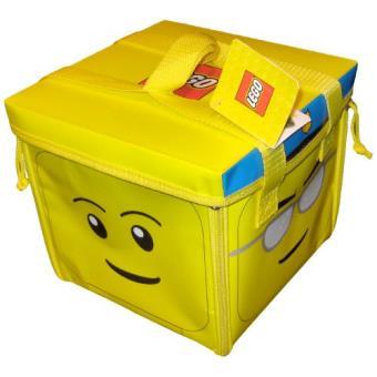 Lego - a1354xx - accessoire jeu de construction - zipbin tete lego - sac de rangement et tapis ...
