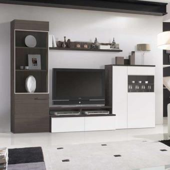 Meuble Tv Laque Mural Design Luke Atylia Couleurs Blanc Meuble Tv