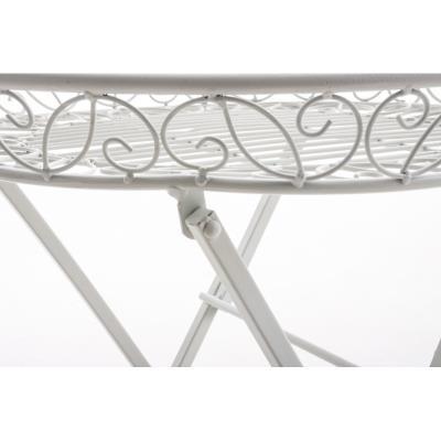 Table de jardin plateau en fer forgé pliable diamètre Ø 46 ...
