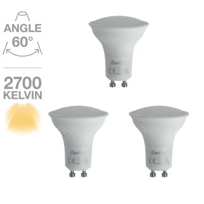 Lot de 3 spots GU10 345 lumens 6.5 WW équivalent à 50 W