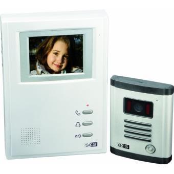 Interphone vidéo 4 fils Sofia Sek 04 - 4 fils + écran 10 cm ...