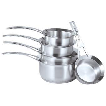 Marc veyrat 3709 set de 5 casseroles acier inoxydable inox - Marc veyrat ustensiles de cuisine ...