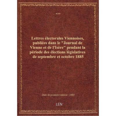 Lettres électorales Viennoises, publiées dans le \