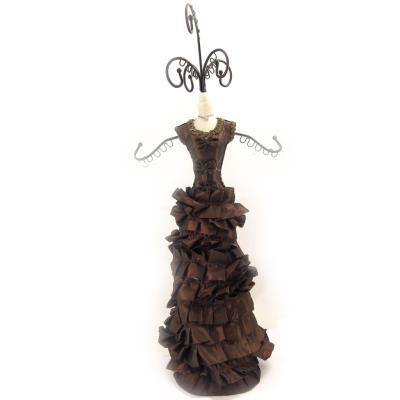 Porte-collier 'Scarlett' marron