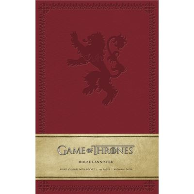 Game Of Thrones Ruled Journal: House Of Lannister (Hardcover)