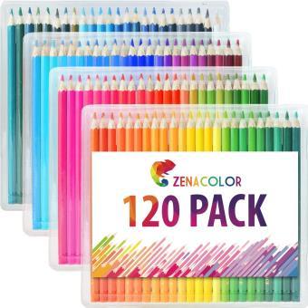 120 Crayons De Couleur Pour Coloriage Avec Etui 120 Couleurs Uniques Zenacolor Crayon De Couleur Achat Prix Fnac