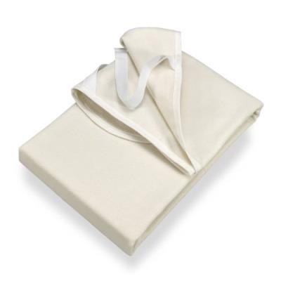 Setex protège-matelas molletonné , 90 x 200 cm, elastique, 100 % coton, basic, naturel blanc cassé, 1607 090200 001 001