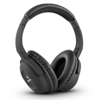 auna ANC 10 Casque Noise Cancelling Réducteur de bruit Hardcase Adaptateur noir